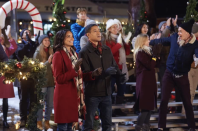 """<p><strong>The Setting:</strong> Hope, British Columbia, Canada</p><p> In a mountain town called Brooklyn, Colorado, Erin Chambers is tasked with planning the town's Christmas festival. As the director of community development at the mayor's office, she wants to help promote holiday tourism following the town's economic downturn after two factories close. In search for the perfect <a href=""""https://www.countryliving.com/home-design/decorating-ideas/tips/g1251/trim-christmas-trees-1208/"""" rel=""""nofollow noopener"""" target=""""_blank"""" data-ylk=""""slk:Christmas tree"""" class=""""link rapid-noclick-resp"""">Christmas tree</a> for the town's tree lighting ceremony, she finds the perfect spruce and in the process falls in love with local firefighter, Kevin Snyder.</p>"""
