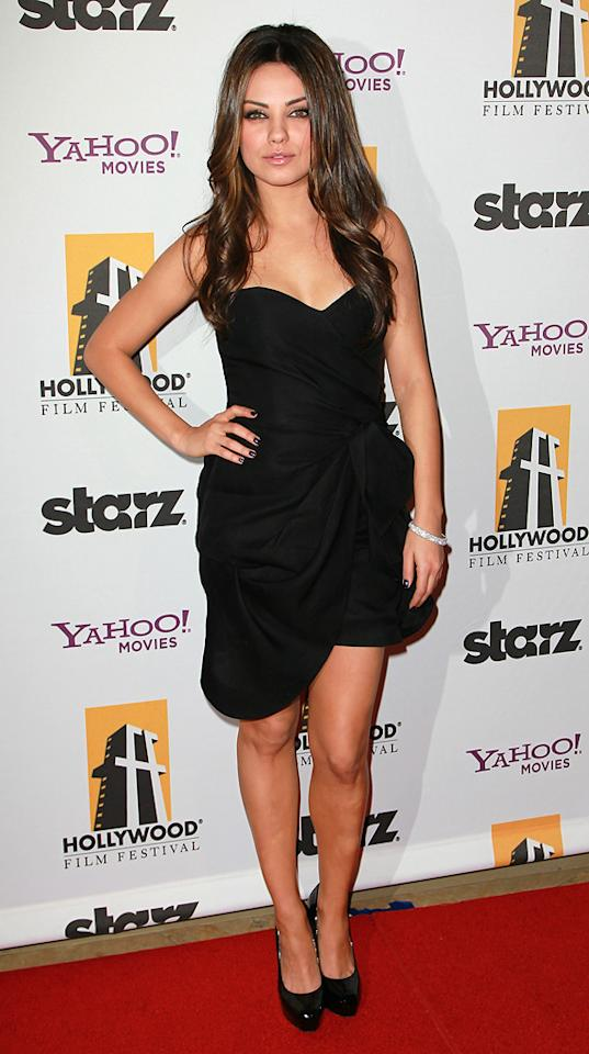 "<a href=""http://movies.yahoo.com/movie/contributor/1800281432"">Mila Kunis</a> attends the 14th Annual Hollywood Awards Gala at the Beverly Hilton Hotel on October 25, 2010."