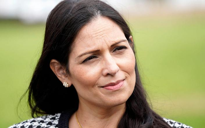 Home Secretary Priti Patel, photographed in August, is being accused of being 'asleep at the wheel' - AFP