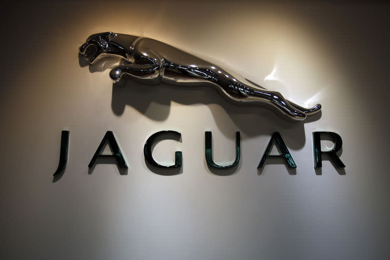 File Photo: The Jaguar logo is pictured at a Jaguar Land Rover showroom in Mumbai February 13, 2013. REUTERS/Vivek Prakash