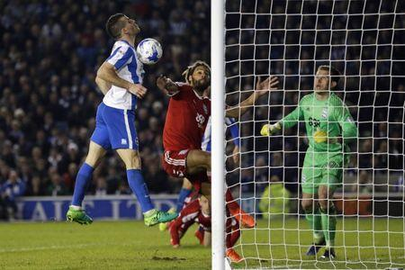 Britain Football Soccer - Brighton & Hove Albion v Birmingham City - Sky Bet Championship - The American Express Community Stadium - 4/4/17 Tomer Hemed of Brighton and Hove Albion scores their second goal Mandatory Credit: Action Images / Henry Browne Livepic
