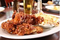 """<p><a href=""""https://www.tripadvisor.com/Restaurant_Review-g60491-d1891611-Reviews-Cafe_Genevieve-Jackson_Jackson_Hole_Wyoming.html"""" rel=""""nofollow noopener"""" target=""""_blank"""" data-ylk=""""slk:Cafe Genevieve"""" class=""""link rapid-noclick-resp"""">Cafe Genevieve</a>, Jackson</p><p>We came for breakfast and enjoyed the chicken and waffles as well as the cajon eggs benedict. Fun environment and good service.<span class=""""redactor-invisible-space""""> - Foursquare user <a href=""""https://foursquare.com/user/157320328"""" rel=""""nofollow noopener"""" target=""""_blank"""" data-ylk=""""slk:Andrew Macey"""" class=""""link rapid-noclick-resp"""">Andrew Macey</a></span></p>"""