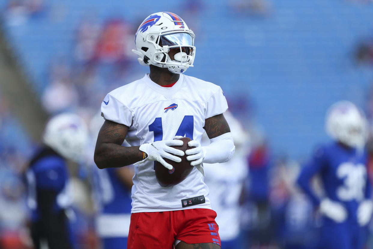 Buffalo Bills wide receiver Stefon Diggs and his teammates are Super Bowl contenders. (AP Photo/Joshua Bessex)