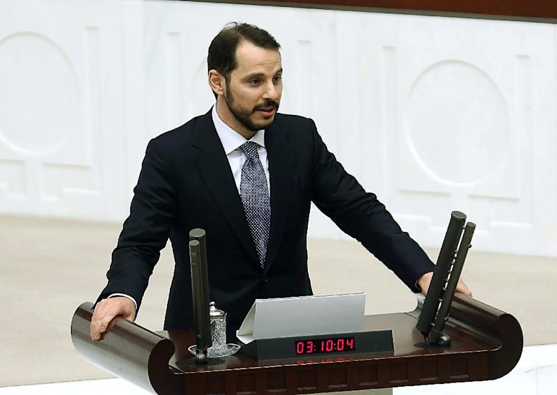 Berat Albayrak, son-in-law of Turkish President Recep Tayyip Erdogan, pictured in Ankara on June 23, 2015, was named energy minister (AFP Photo/Adem Altan)