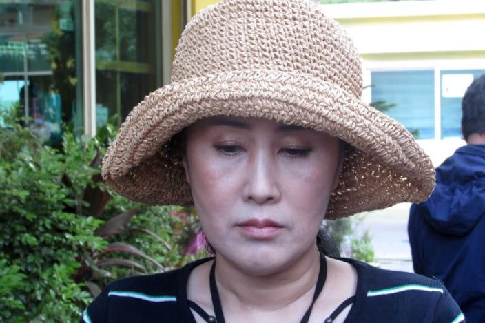 Sitanun Satsaksit sister of the missing Thai activist Wanchalearm Satsaksit, abducted earlier in the year by unknown gunmen in Phnom Penh