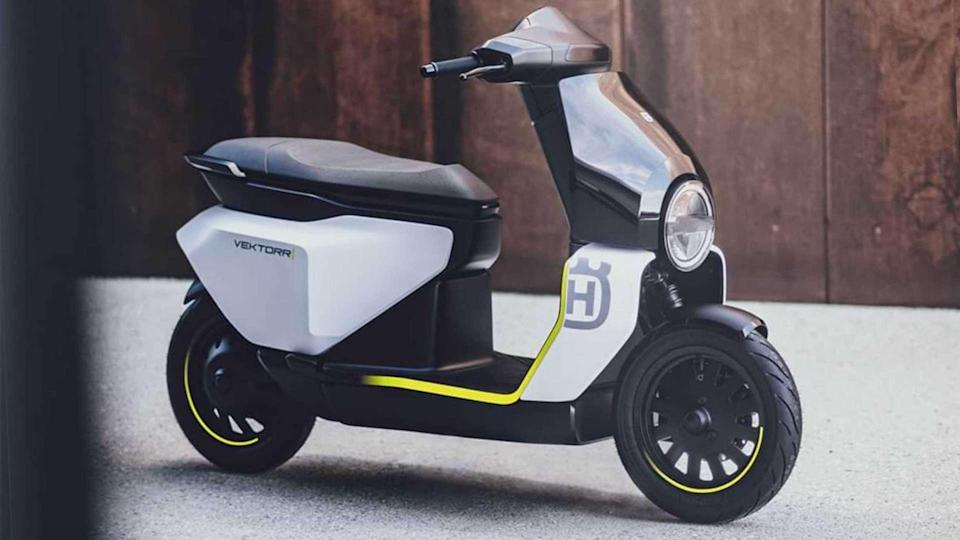 The Vektorr is Husqvarna's first-ever attempt at making an electric scooter. Image: Husqvarna