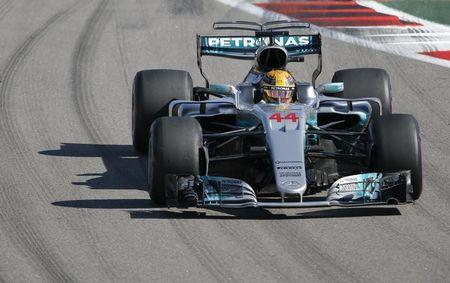 Formula One - F1 - Russian Grand Prix - Sochi, Russia - 30/04/17 - Mercedes Formula One driver Lewis Hamilton of Britain drives during the race. REUTERS/Maxim Shemetov