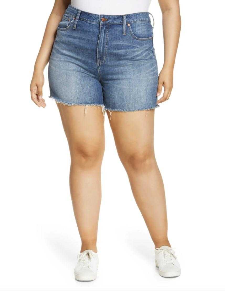 <p>You can style these <span>Madewell High Rise Cuffed Denim Shorts</span> ($45) in so many ways, with sneakers, chunky boots, or slide sandals.</p>