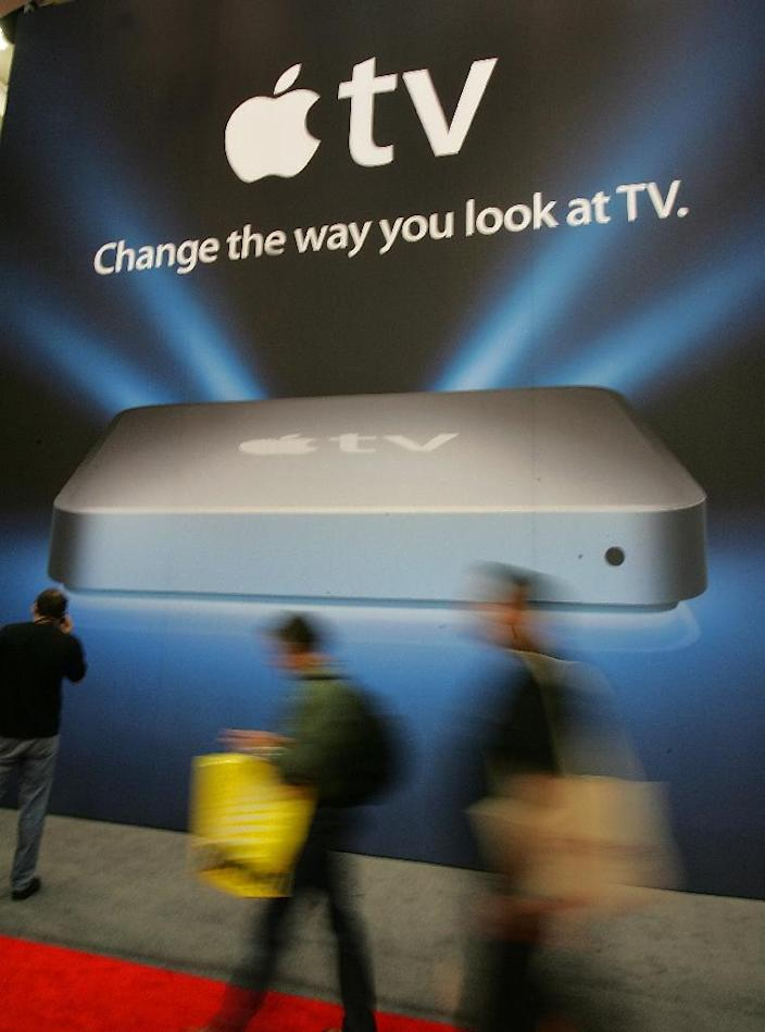 An Apple TV revamp that may signal a push into the online television streaming sector, dominated by Netflix (AFP Photo/Tony Avelar)