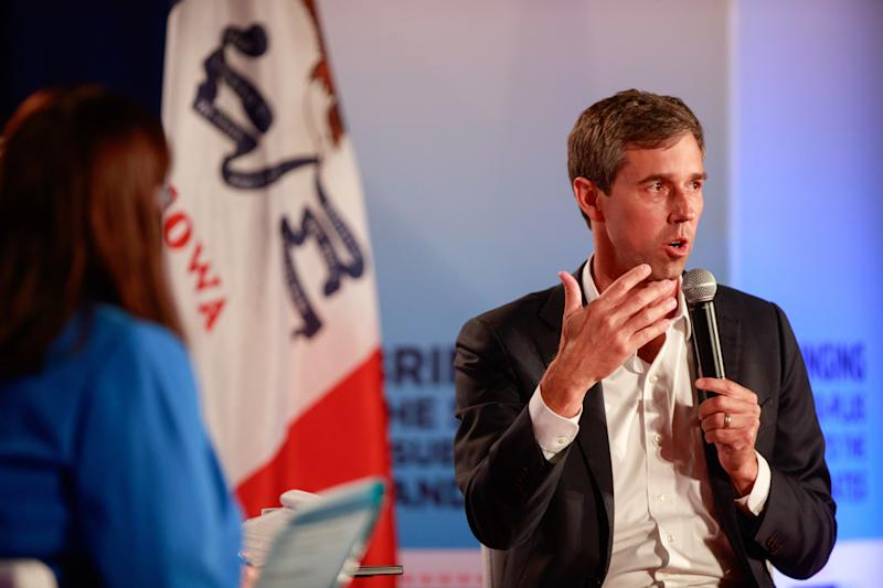 SIOUX CITY, IOWA, UNITED STATES - 2019/07/19: Democratic presidential hopeful Beto O'Rourke speaks during the AARP 2020 Presidential Candidate Forum in Sioux City. (Photo by Jeremy Hogan/SOPA Images/LightRocket via Getty Images)