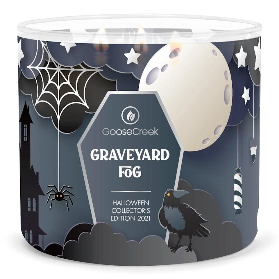<p>If you like candles with a more earthy undertone, then the <span>Goose Creek Graveyard Fog Candle</span> ($25) is a perfect pick for you. You'll smell traces of frozen fog, water, black musk, and wood.</p>