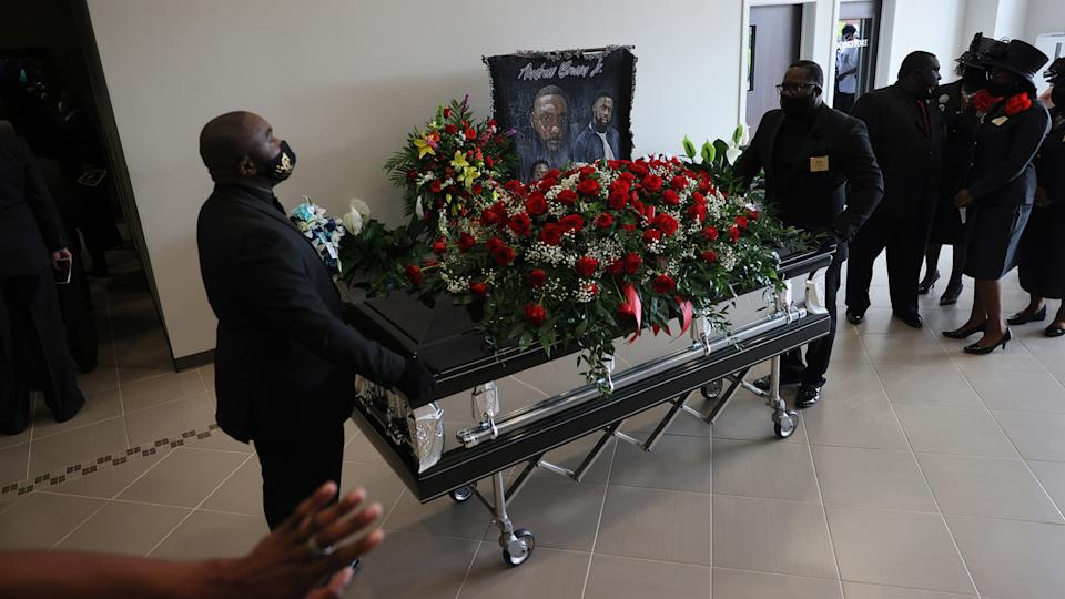 The casket of Andrew Brown Jr.