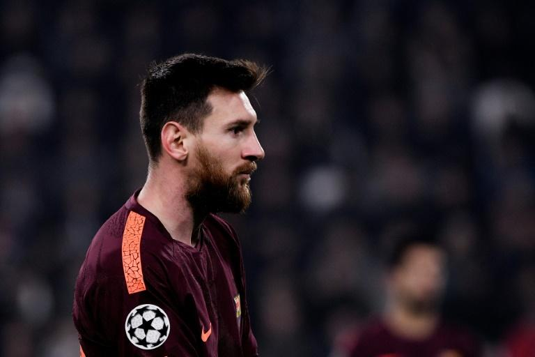 Barcelona's forward Lionel Messi looks on during the UEFA Champions League Group D football match against Juventus November 22, 2017