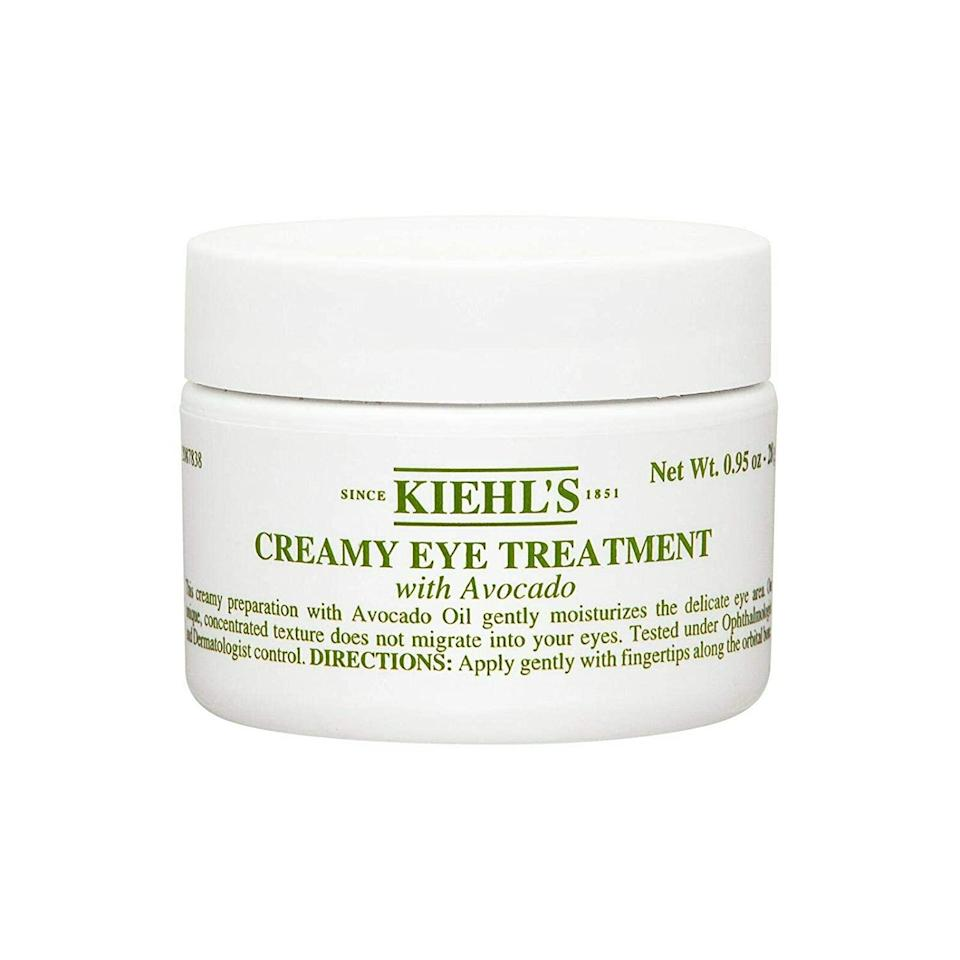 """<p>This little white jar with its signature green text is a mainstay on top shelves around the world. Avocado oil in Kiehl's Creamy Eye Treatment With Avocado is one of the most potent natural moisturizers and works to nourish and hydrate the undereyes.</p> <p>For a limited time, new members can score the above eye cream in the <a href=""""https://beautybox.allure.com/?source=EDT_ALB_EDIT_GALLERYINCL_0_JULY21_KIEHLS_ZZ"""" rel=""""nofollow noopener"""" target=""""_blank"""" data-ylk=""""slk:bonus luxury bundle"""" class=""""link rapid-noclick-resp"""">bonus luxury bundle</a>, which is valued at $120, along with their July <a href=""""https://beautybox.allure.com/?source=EDT_ALB_EDIT_GALLERYINCL_0_JULY21_KIEHLS_ZZ"""" rel=""""nofollow noopener"""" target=""""_blank"""" data-ylk=""""slk:Allure Beauty Box"""" class=""""link rapid-noclick-resp""""><em>Allure</em> Beauty Box</a>. While supplies last, order now!</p>"""
