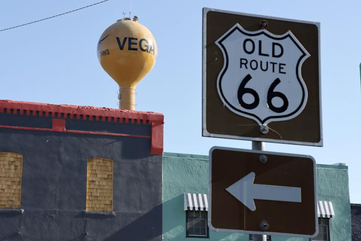Vega, TX along Old Rt66.  Vega is in Oldham County, about 30 miles from Amarillo. To date, Oldham County has had only three officially confirmed cases of COVID-19.