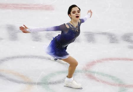Figure Skating - Pyeongchang 2018 Winter Olympics - Ladies Single Skating Short Program - Gangneung, South Korea - February 21, 2018 - Evgenia Medvedeva, an Olympic Athlete from Russia, performs. REUTERS/Damir Sagolj