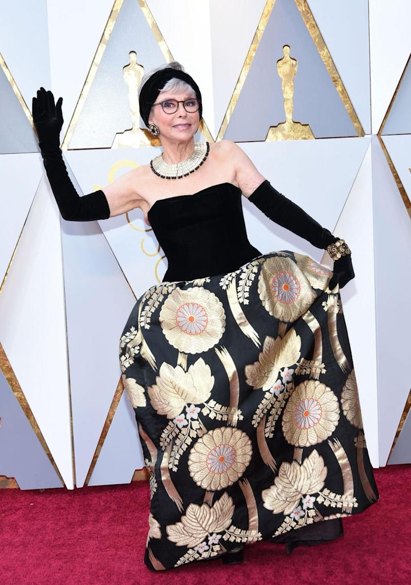 There's an amazing secret behind Rita Moreno's Oscars gown. Source: Getty