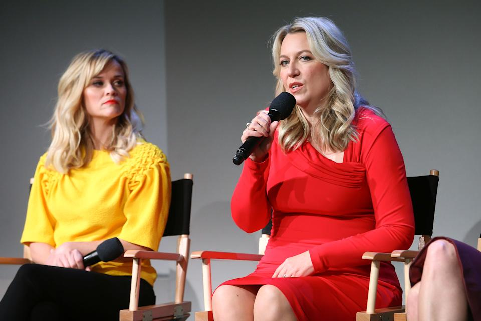 NEW YORK, NY - DECEMBER 03:  Reese Witherspoon and Cheryl Strayed attends the Apple Store Soho Presents: Meet the Filmmakers: Reese Witherspoon, Laura Dern, and Cheryl Strayed,