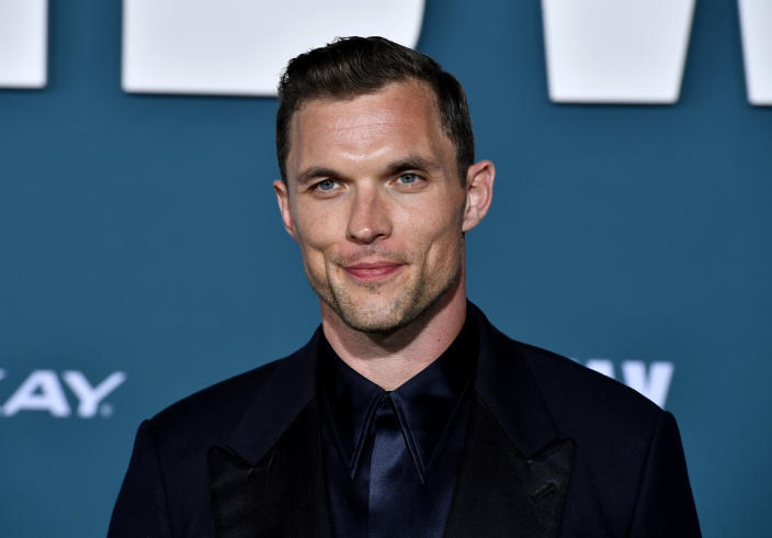 """Ed Skrein attends the premiere of Lionsgate's """"Midway"""" on November 05, 2019. (Photo by Frazer Harrison/Getty Images)"""
