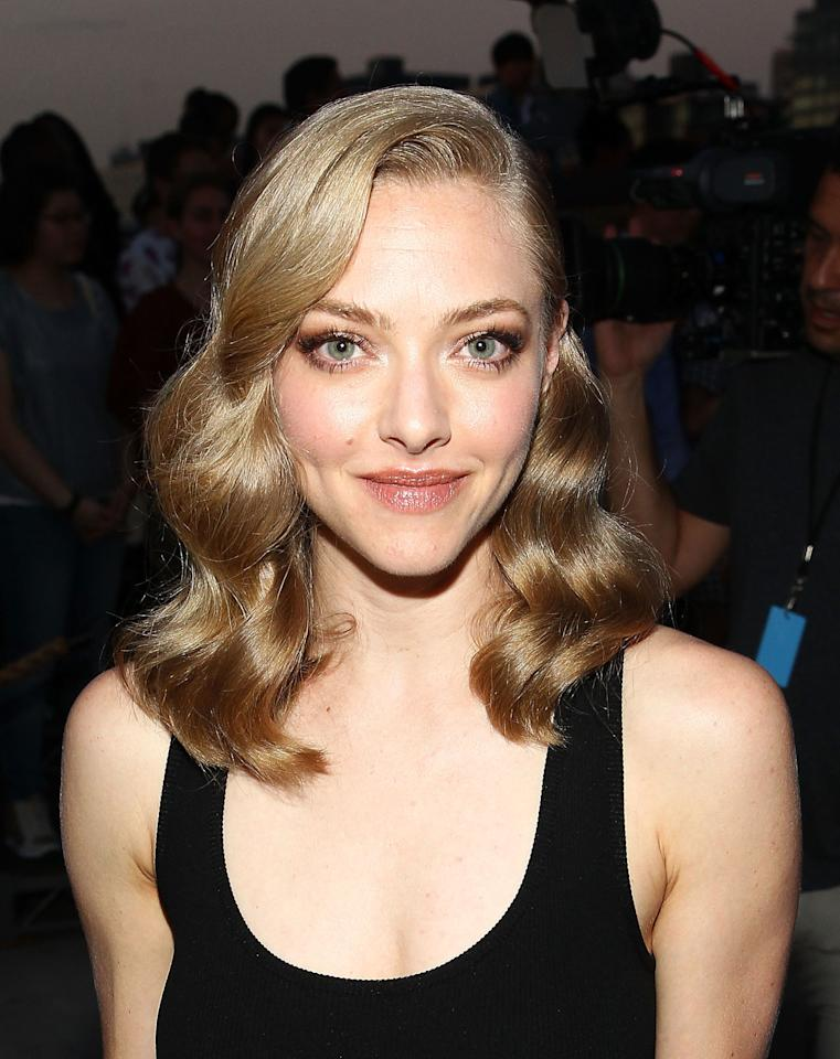 """<p>Her answer to the question """"Did you ever have skin problems?"""" """"<a rel=""""nofollow"""" href=""""http://www.allure.com/story/amanda-seyfried-hormonal-acne"""">F*ck yeah</a>."""" She credits aging and Cléde Peau (for which she's a spokesmodel) for clearing up her stress-related eczema and hormonal acne. </p>"""