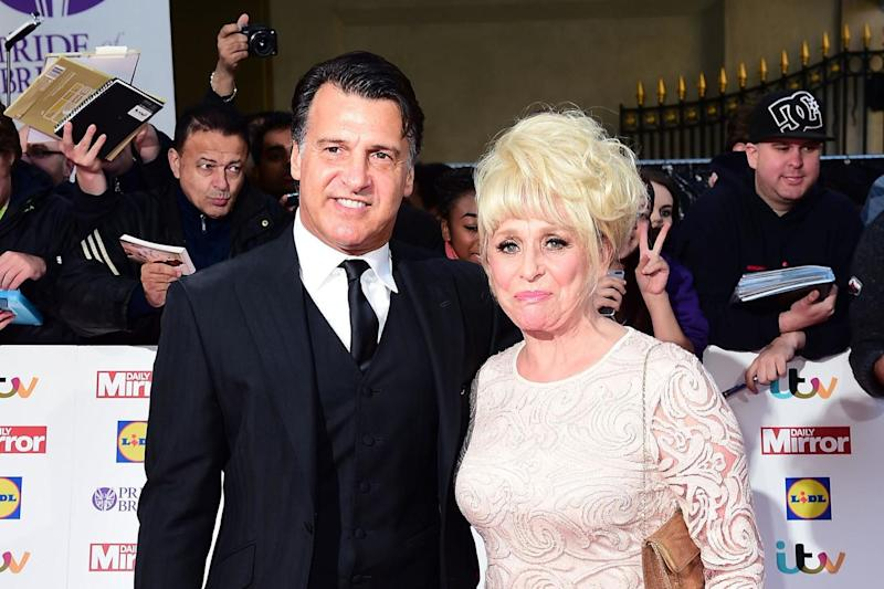 Dame Barbara Windsor and her husband Scott Mitchell, who have called on Prime Minister Boris Johnson to solve the dementia care crisis: PA