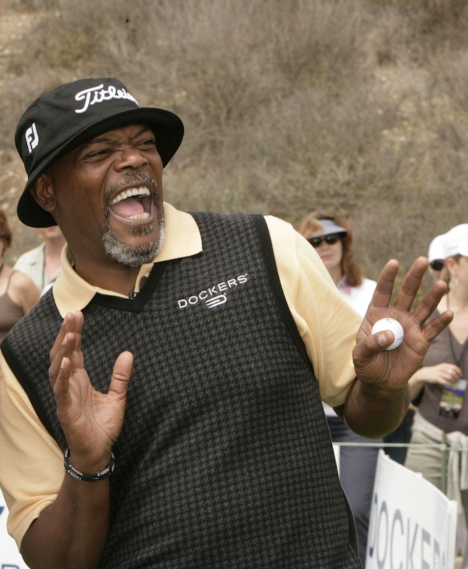 <p>Samuel L. Jackson during the Ninth Annual Michael Douglas and Friends Celebrity Golf Tournament in 2007.</p>