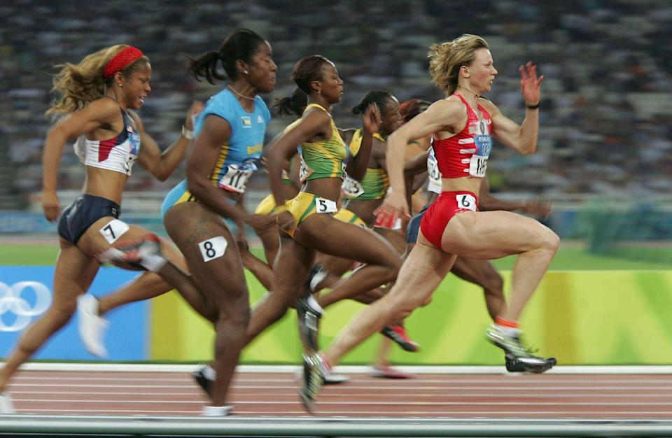 """<p><a href=""""https://www.usatoday.com/story/sports/olympics/2019/08/15/jessica-learmonth-georgia-taylor-brown-dqd-holding-hands/2018947001/"""" rel=""""nofollow noopener"""" target=""""_blank"""" data-ylk=""""slk:Olympic runners"""" class=""""link rapid-noclick-resp"""">Olympic runners</a> who choose to hold hands at the finish line are disqualified due to a rule that says you can't have a contrived tie. </p>"""