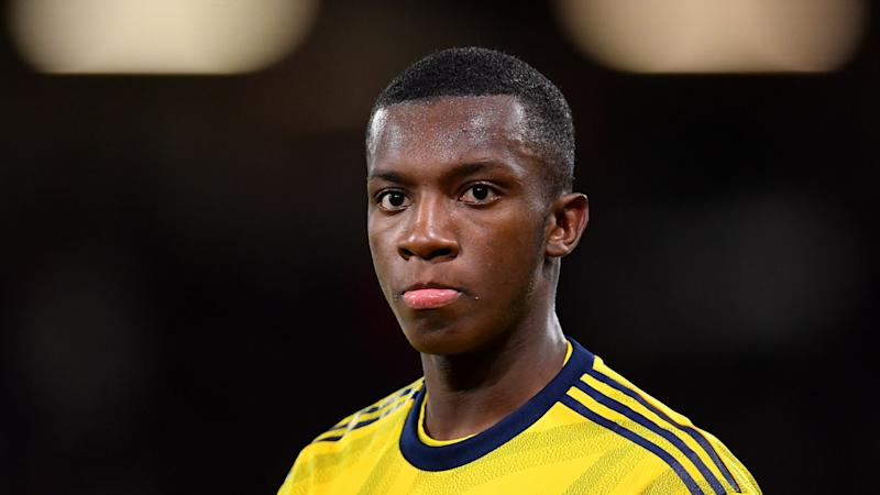 Nketiah set to serve three-game suspension after Arsenal fail in appeal against red card from Leicester match