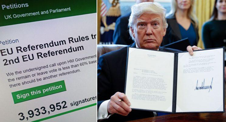 More than a million people have signed the petition against Trump's state visit