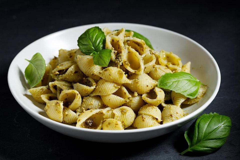 """<p>Conchoglie pasta has a real knack for making sauces stick to it. It's also great in a pasta bake. Maybe a <a href=""""https://www.delish.com/uk/cooking/recipes/a30267815/tuna-pasta-bake/"""" rel=""""nofollow noopener"""" target=""""_blank"""" data-ylk=""""slk:tuna pasta bake"""" class=""""link rapid-noclick-resp"""">tuna pasta bake</a> is your thing?</p>"""