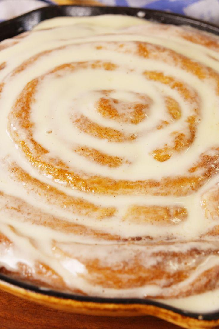 """<p>Because one giant cinnamon roll is obviously better than one regular sized cinnamon roll.</p><p>Get the recipe from <a href=""""https://www.delish.com/cooking/recipe-ideas/recipes/a56228/giant-cinnamon-roll-recipe/"""" rel=""""nofollow noopener"""" target=""""_blank"""" data-ylk=""""slk:Delish"""" class=""""link rapid-noclick-resp"""">Delish</a>. </p>"""