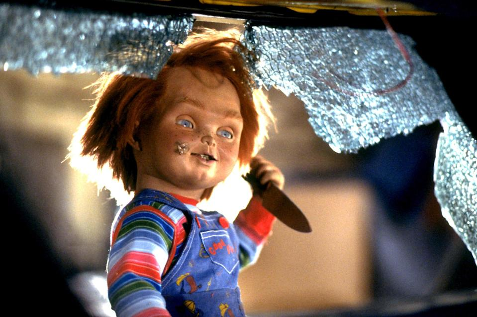 """<div><p>""""I love Chucky as a character, but the rest of them are just tropes and comedy to me, removing the spirit of it.""""</p><p>—<a href=""""https://www.reddit.com/r/AskReddit/comments/o7bmha/what_movie_franchise_shouldve_stopped_at_2/h2xquv4/?context=3&utm_medium=web2x&utm_source=reddit"""" rel=""""nofollow noopener"""" target=""""_blank"""" data-ylk=""""slk:u/karma_hit_my_dogma"""" class=""""link rapid-noclick-resp"""">u/karma_hit_my_dogma</a></p></div><span> United Artists / © United Artists / Courtesy Everett Collection</span>"""