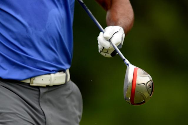 ARDMORE, PA - JUNE 13: A detailed shot a golf club belonging to Tiger Woods of the United States is seen during Round One of the 113th U.S. Open at Merion Golf Club on June 13, 2013 in Ardmore, Pennsylvania. (Photo by Ross Kinnaird/Getty Images)