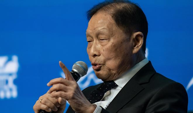 Mochtar Riady, founder and chairman of Lippo Group, speaks during the Belt and Road Summit in Hong Kong, China. Photo: Bloomberg