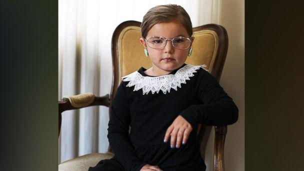 PHOTO: Photographer Gina Lee created a Ruth Bader Ginsburg costume for her 5-year-old daughter, Willow. (Gina Lee Photography)