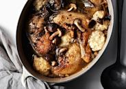 "Our favorite Dutch oven is heavy-duty, big enough for any stew, and handsome enough to put on the table. <a href=""https://www.bonappetit.com/recipe/chicken-dumplings-mushrooms?mbid=synd_yahoo_rss"" rel=""nofollow noopener"" target=""_blank"" data-ylk=""slk:See recipe."" class=""link rapid-noclick-resp"">See recipe.</a>"