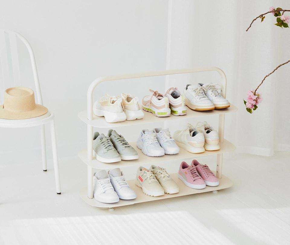 """<p>""""I'm planning on getting organized this spring, and finding organizers that are actually stylish is hard. I want to start with this chic <span>Open Spaces Entryway Rack</span> ($138), that even doubles as a bookshelf."""" - KJ</p>"""