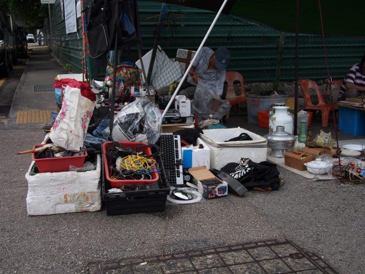 <p>Used keyboards, a Nespresso machine as well as old cables among items being sold by one of the vendors at Sungei Road Thieves Market. (Photo: Net Reindio/ Yahoo Lifestyle Singapore)</p>