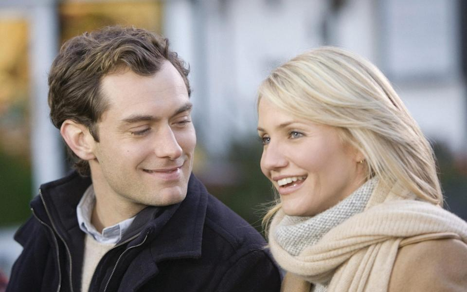 Jude Law and Cameron Diaz in The Holiday -  Film Stills