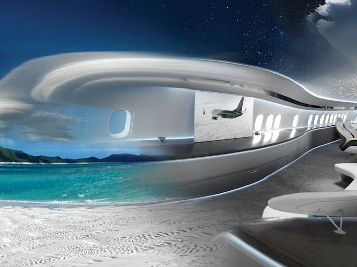 The Genesis interior design concept for Boeing's 737 Max aircraft.