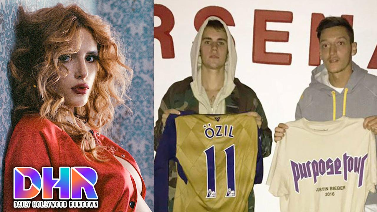 Bella strips down in Playboy, and Justin moves to London? All this & more on today's DHR.