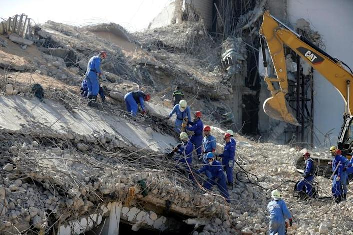 Four bodies were found trapped under debris at the Beirut port but no one has been found alive