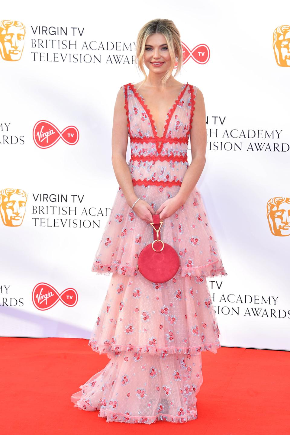 Georgia 'Toff' Toffolo attending the Virgin TV British Academy Television Awards 2018 held at the Royal Festival Hall, Southbank Centre, London.