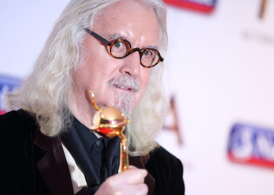 Billy Connolly attends the 21st National Television Awards Winners Room at The O2 Arena on January 20, 2016 in London, England.  (Photo by Mike Marsland/WireImage)