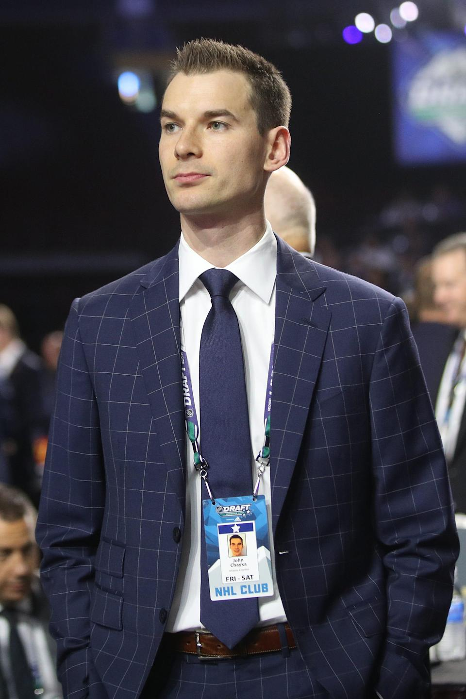 John Chayka became the league's youngest general manager in 2016, at age 26.