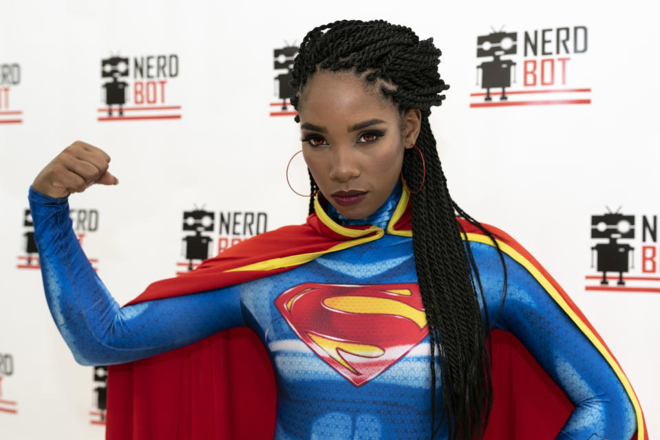 PASADENA, CA, UNITED STATES - 2018/09/22: Cosplayer, Krystina Arielle, attends Nerdbot Con, a cosplay convention. The annual Nerdbot convention included cosplay contests, panels, special guests, and events for gaming, movies and TV fans. (Photo by Ronen Tivony/Pacific Press/LightRocket via Getty Images)