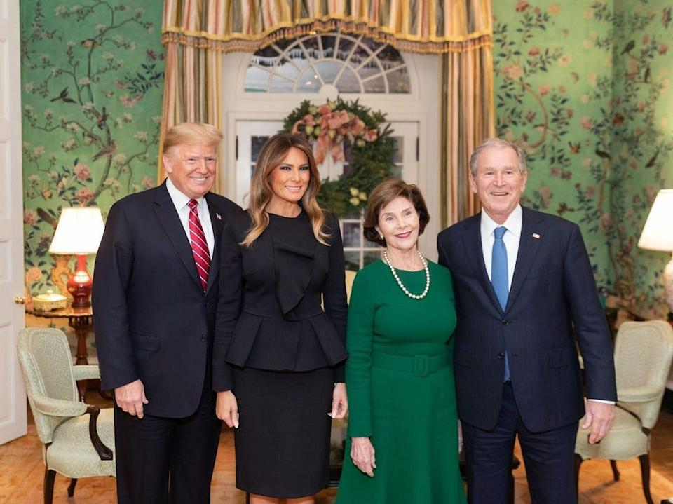 Trumps, Barbara and George W. Bush at Blair House