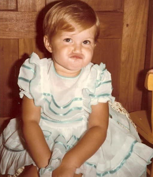 """<p>Model Gisele, as a pouting toddler: """"My face when things don't turn out how I planned #tbt #babyGi #1982"""" -<span>@gisele</span> (Instagram)</p>"""