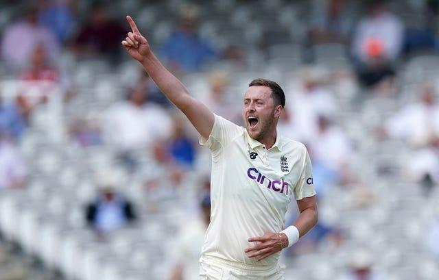 Ollie Robinson took two wickets on debut