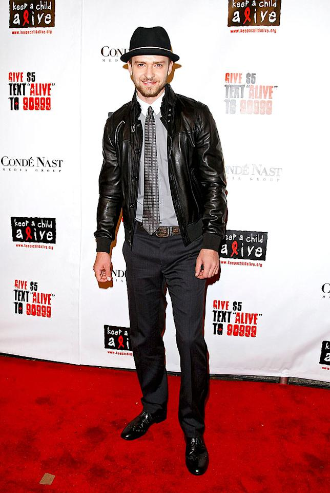 "A spiffy Justin Timberlake arrives to perform at Alicia Keys' Black Ball at the Hammerstein Ballroom in NYC. B. Ach/<a href=""http://www.infdaily.com"" target=""new"">INFDaily.com</a> - November 13, 2008"